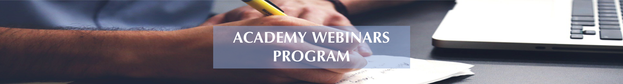 academy webinars program