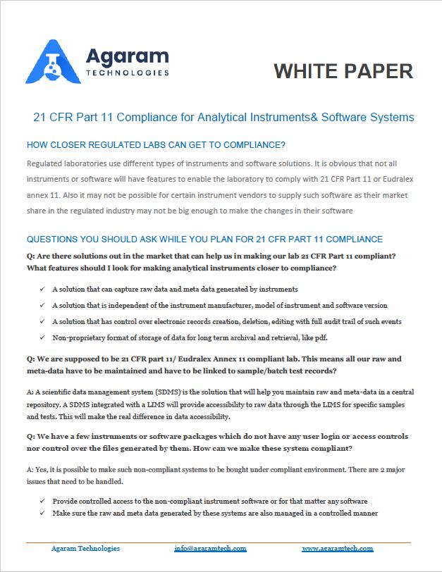 white paper agaram