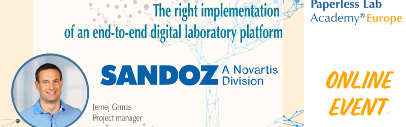Sandoz at Paperless Lab Academy 2021 Europe