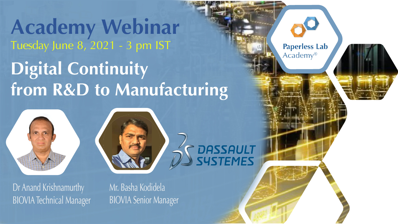digital continuity from R&D to manufacturing