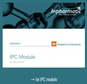 Integration of instruments  inpharmatic datasheet